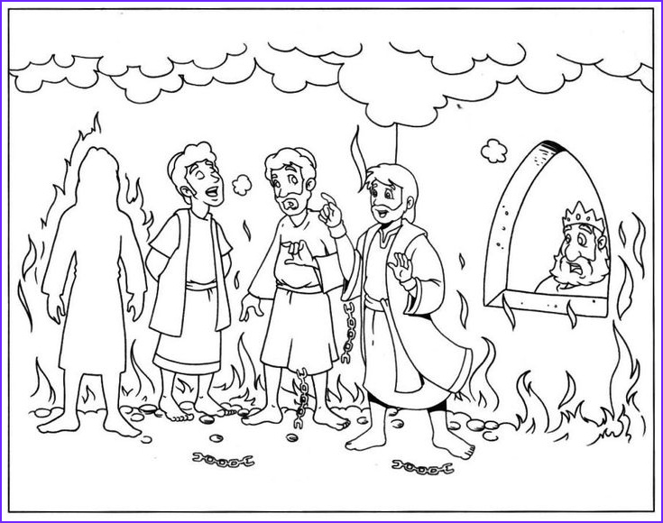 Shadrach Meshach and Abednego Coloring Page Awesome Photos Shadrach Meshach and Abednego Coloring Pages