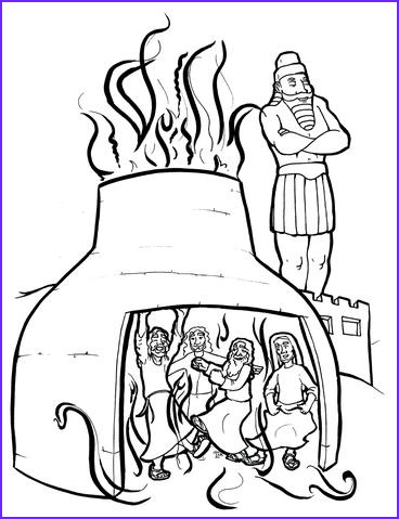the fiery furnace coloring page