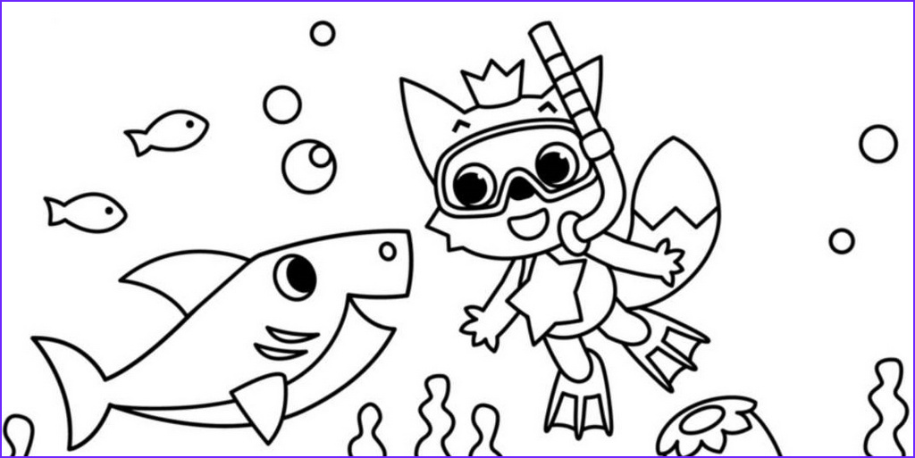 4 best baby shark pinkfong coloring sheets children