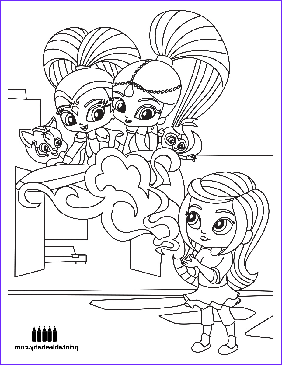 Shimmer and Shine Coloring Sheets Unique Photos Shimmer and Shine Freebies