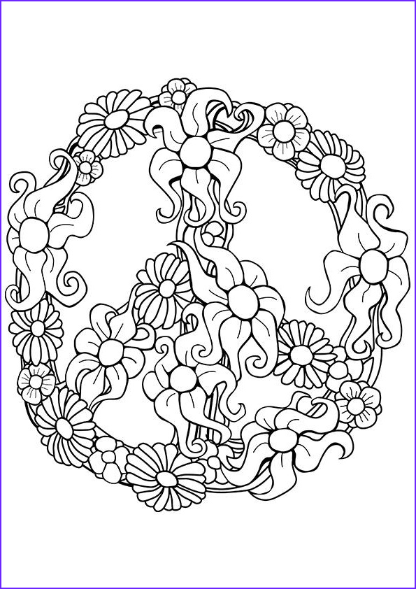 Simple Adult Coloring Pages Cool Gallery Simple and attractive Free Printable Peace Sign Coloring Pages