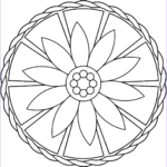 Simple Mandala Coloring Pages Awesome Collection Simple Mandala With Flower Coloring Page