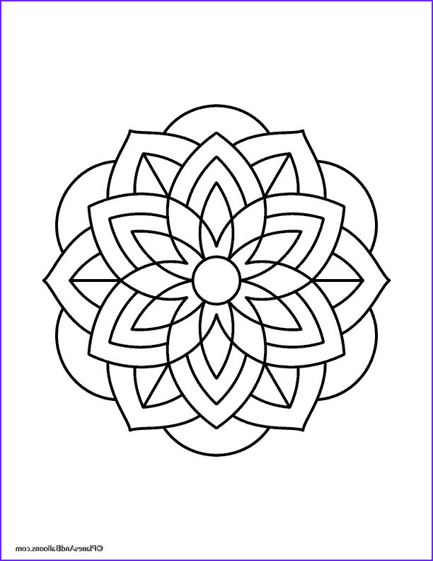 Simple Mandala Coloring Pages Beautiful Gallery Easy Mandalas to Color 01 Planes & Balloons