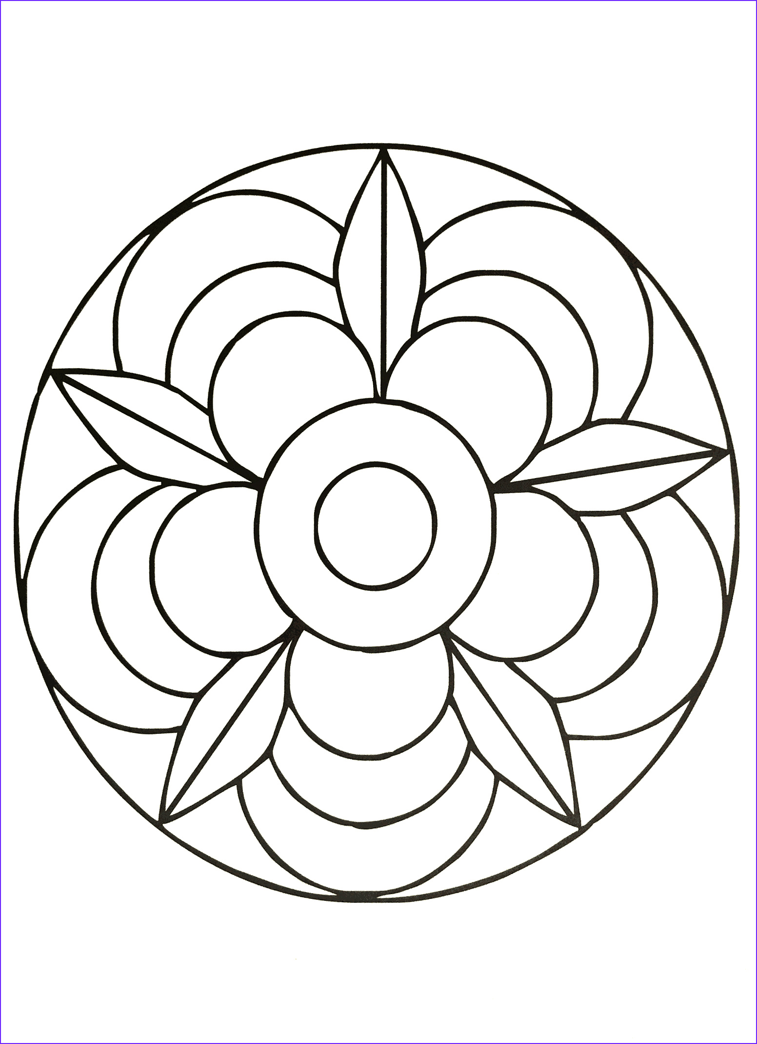 Simple Mandala Coloring Pages Best Of Stock Simple Mandala 40 M&alas Coloring Pages for Kids to
