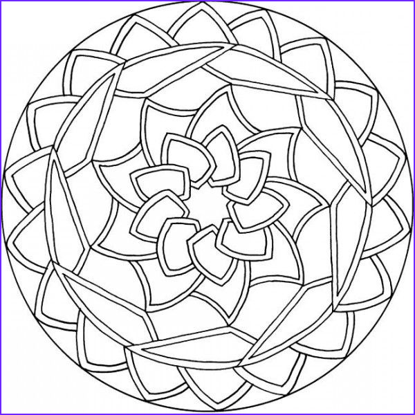 Simple Mandala Coloring Pages Best Of Stock Simple Mandala Coloring Pages Mandala