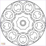 Simple Mandala Coloring Pages Cool Photos Simple Abstract Mandala Coloring Page