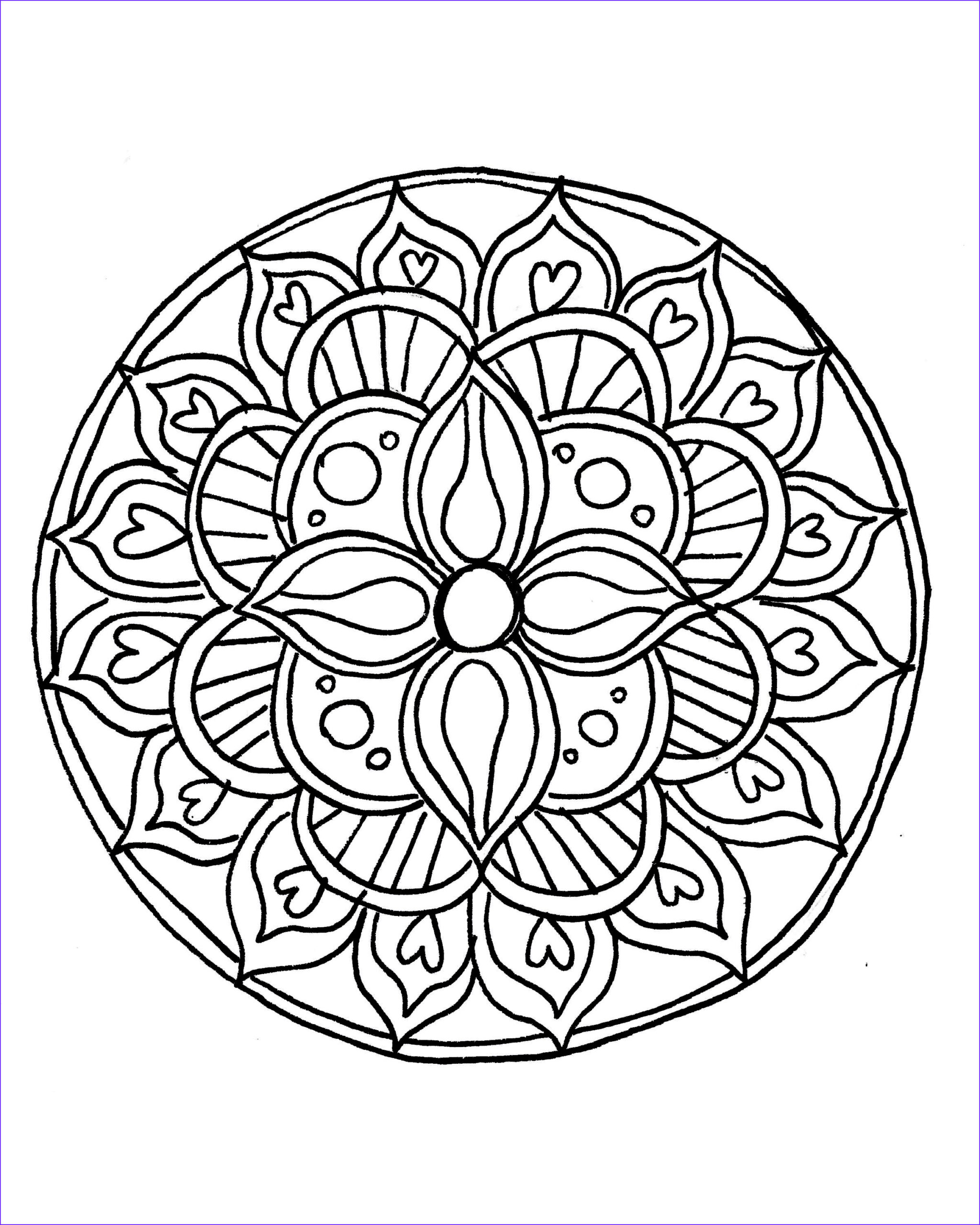 Simple Mandala Coloring Pages Elegant Photos How to Draw A Mandala with Free Coloring Pages
