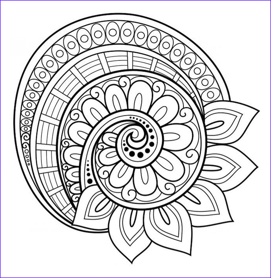 Simple Mandala Coloring Pages Inspirational Image Flower Mandala Coloring Page Free …