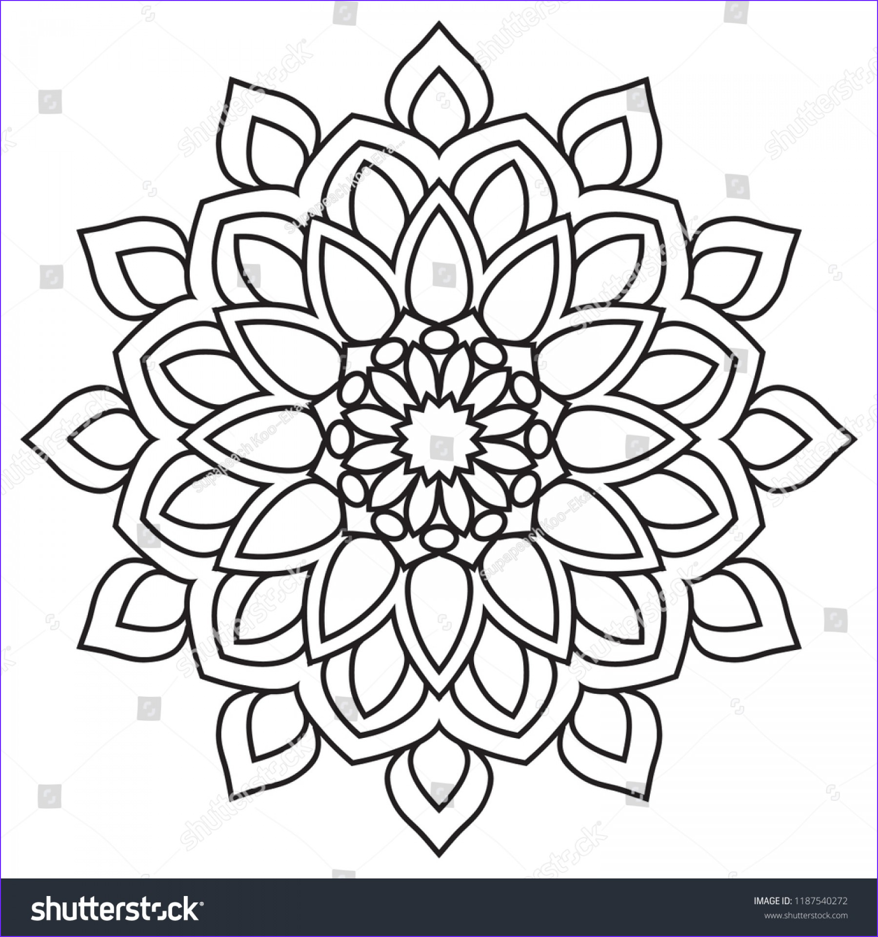 Simple Mandala Coloring Pages Luxury Image Basic Simple Mandala Coloring Page Easy