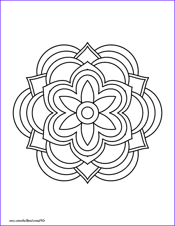 Simple Mandala Coloring Pages Luxury Photos Easy Mandala Coloring Pages that You Ll Actually Want to Color