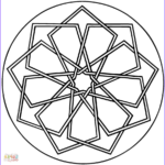 Simple Mandala Coloring Pages New Photos Simple Geometric Mandala Coloring Page