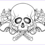 Skull Coloring Book New Photos Cool Skull Design Coloring Pages Coloring Home