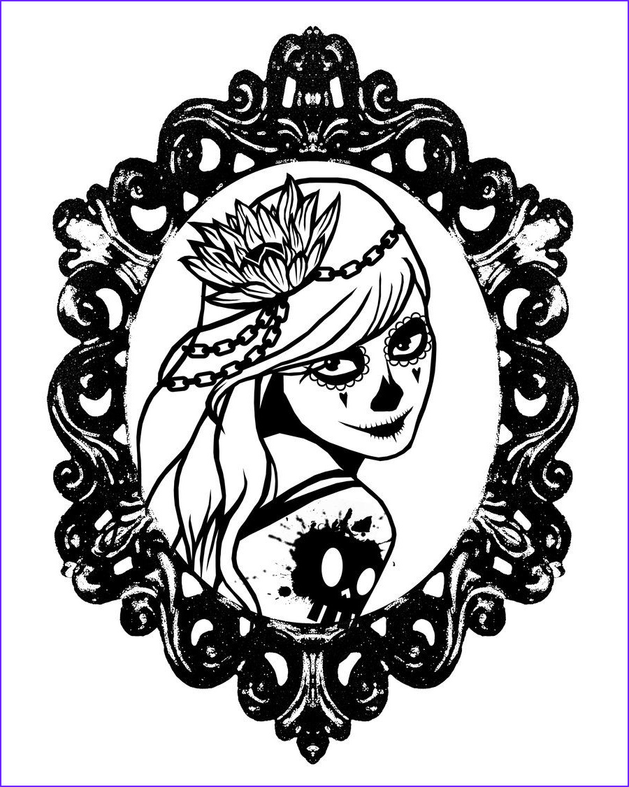 Skull Coloring Cool Photography Girl Sugar Skull Coloring Pages Google Search