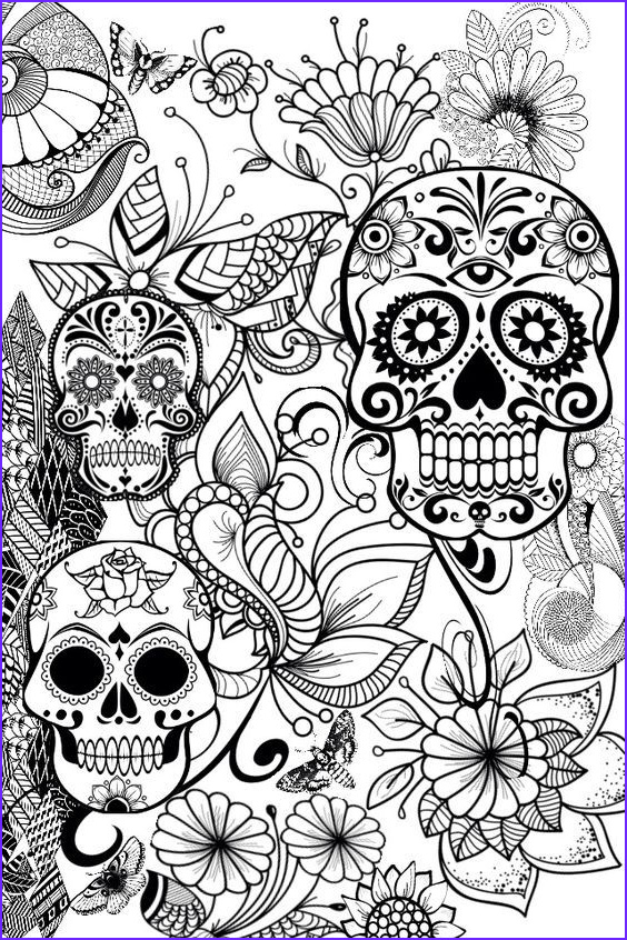 Skull Coloring Pages to Print Awesome Photos Pin by Barbara On Coloring Skull