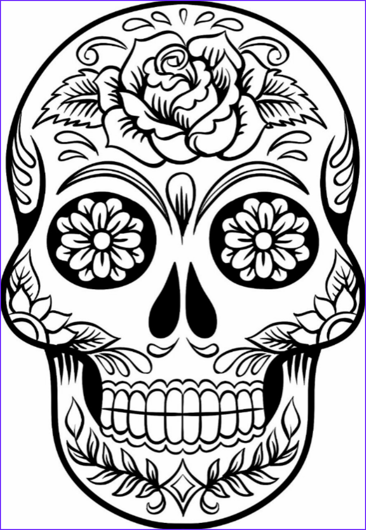 Skull Coloring Pages to Print Elegant Image Printable Sugar Skull Coloring Pages