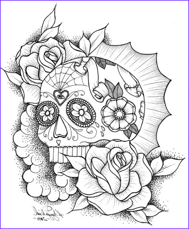 Skull Coloring Pages to Print Inspirational Photography Awesome Sugar Skull Coloring Picture Line
