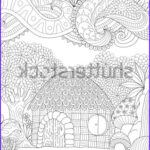 Small Adult Coloring Books New Image Zendoodle Design Small Hut Forest Abstract Stock Vector