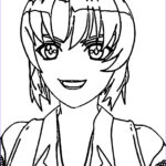 Smile Coloring Pages Awesome Photography Manga Boy Front View Smile Coloring Page