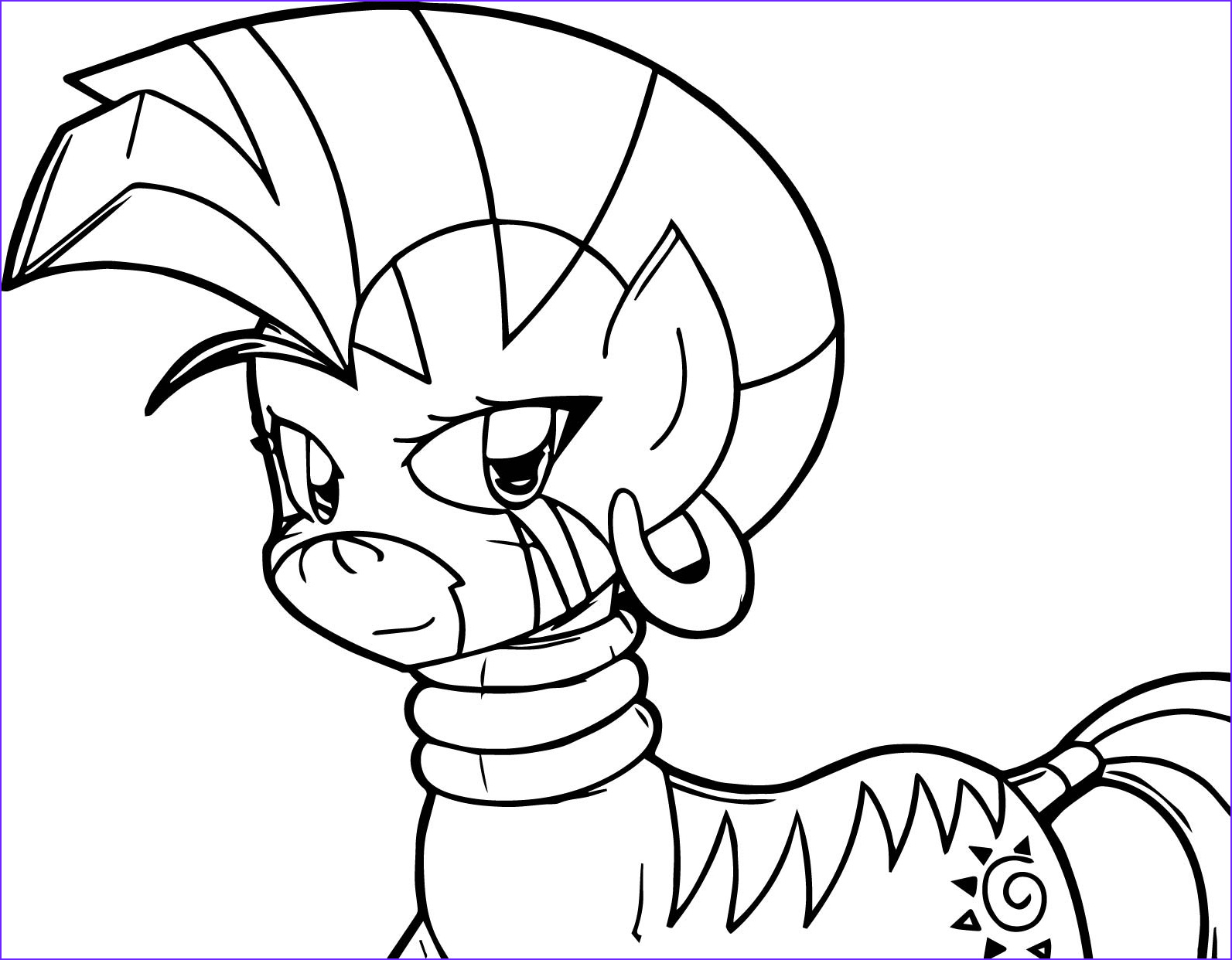 zecora smile coloring pages