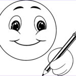 Smile Coloring Pages Beautiful Photos Cute Smile Emoticon Icons Writing Face Coloring Page