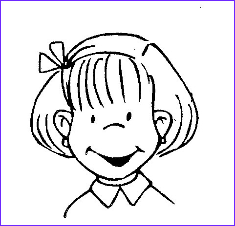 kid smile coloring pages