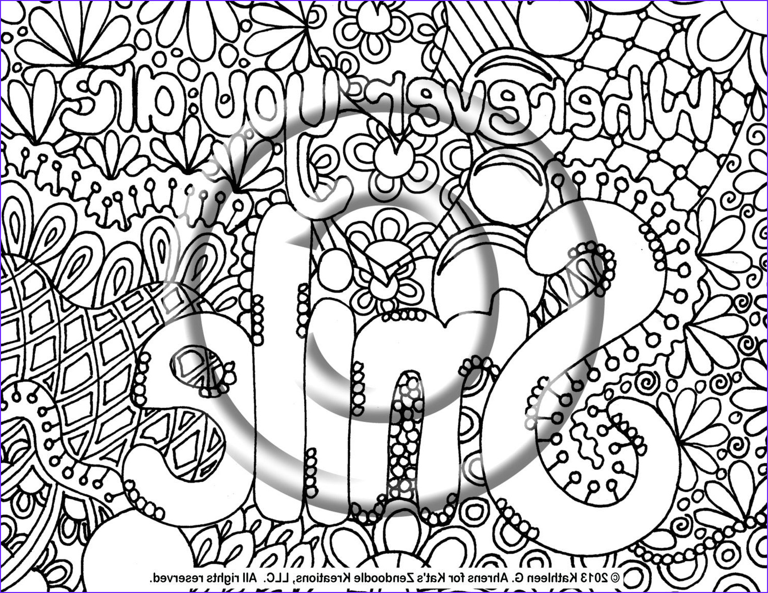 instant pdf coloring page hand