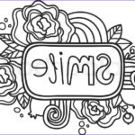 """Smile Coloring Pages Elegant Photos Printable """"smile"""" Sticker Page Fun Summer Doodle Frame"""