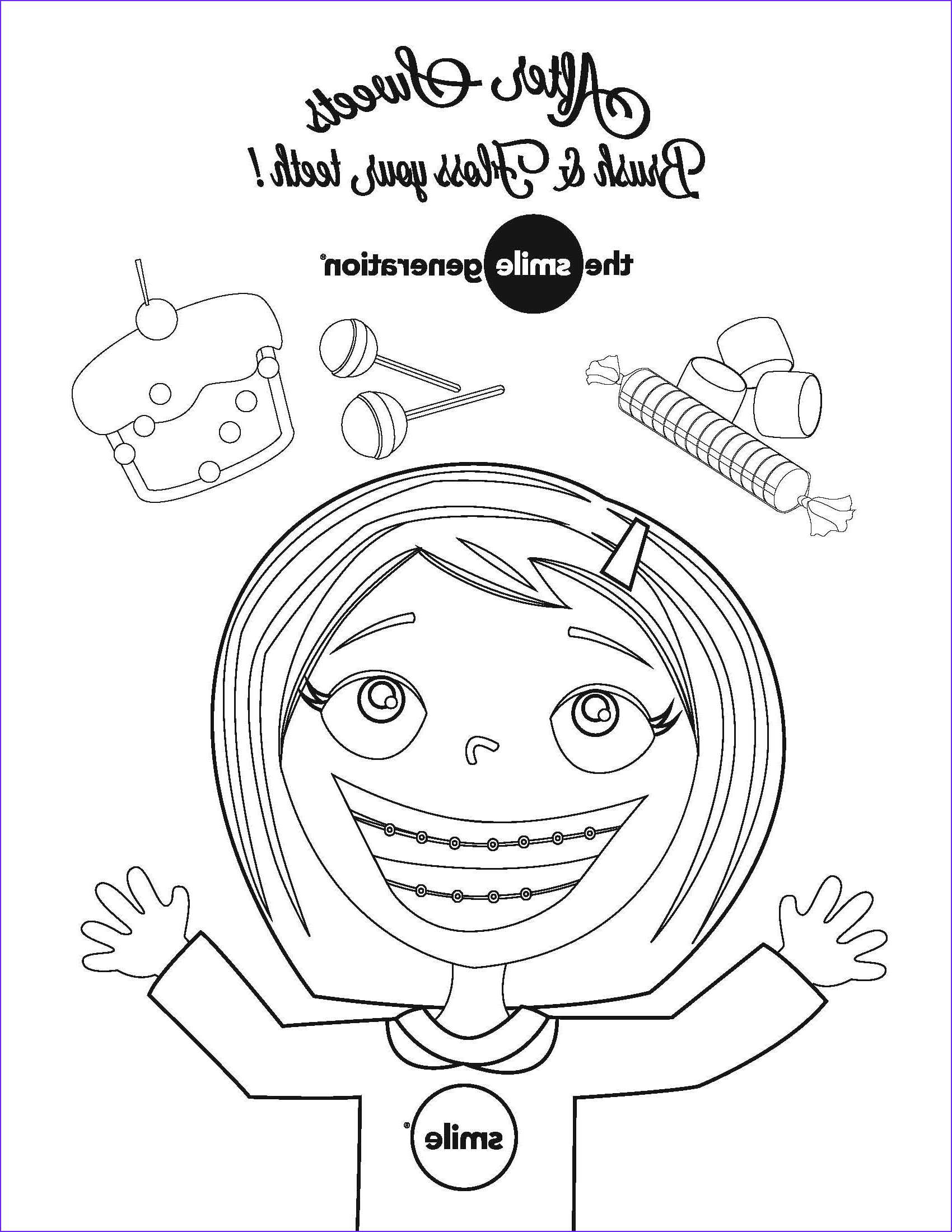 Smile Coloring Pages Elegant Photos Rock Your Smile It S National Children S Dental Health