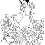 Snow White Coloring Beautiful Gallery 40 Snow White And The Seven Dwarfs Coloring Page Snow