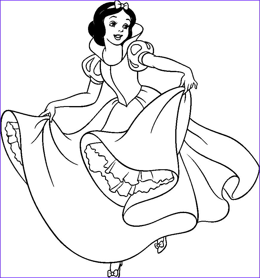 printable page of snow white by zoe