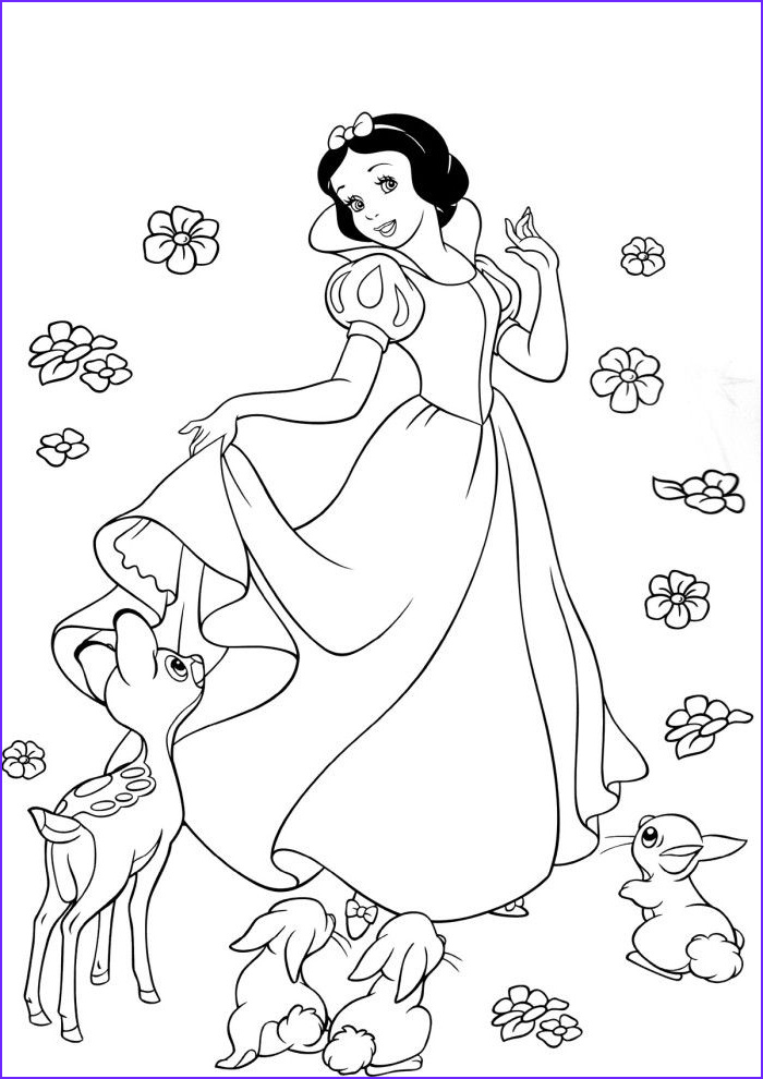 Snow White Coloring Book Luxury Gallery Beautiful Princess Snow White Coloring Book