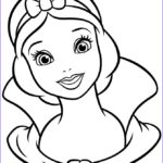 Snow White Coloring Elegant Collection Pretty Snow White Portrait Coloring Page