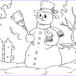 Snowmen Coloring Pages Best Of Photos Free Printable Snowman Coloring Pages For Kids