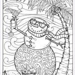 Snowmen Coloring Pages Best Of Photos Tropical Snowman Coloring Page Adult Coloring Beach Holidays