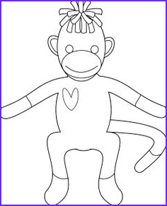 Sock Monkey Coloring Pages Awesome Images sock Monkey Coloring Pages Printable