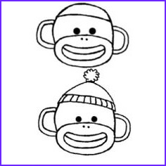 Sock Monkey Coloring Pages Beautiful Photos 1000 Images About sock Monkey On Pinterest
