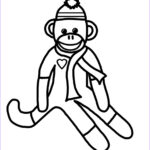 Sock Monkey Coloring Pages Beautiful Photos Printables Avery S Angels