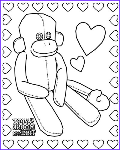 Sock Monkey Coloring Pages Cool Photos Birthdays On A Bud sock Monkey Party