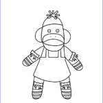 Sock Monkey Coloring Pages Inspirational Photos Mrs Sock Monkey Coloring Page