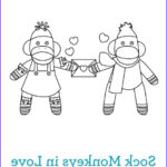 Sock Monkey Coloring Pages Inspirational Stock Sock Monkeys In Love Kids Coloring Pages Personal