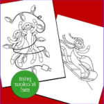 Sock Monkey Coloring Pages New Collection Items Similar To Sock Monkey Christmas Colouring Pages