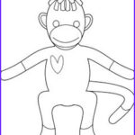 Sock Monkey Coloring Pages New Collection Sock Monkey Coloring Pages Printable