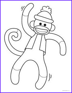 Sock Monkey Coloring Pages New Image Coloring Page Kid S Birthday Ideas