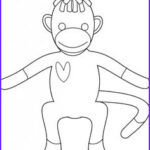 Sock Monkey Coloring Pages New Image Sock Monkey Coloring Pages Printable