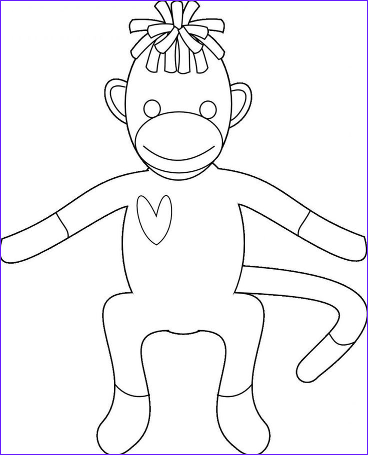 Sock Monkey Coloring Pages New Photos sock Monkey Coloring Pages for Kids Enjoy Coloring