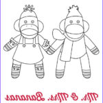 Sock Monkey Coloring Pages New Photos Sock Monkey Coloring Pages Personal Creations Blog