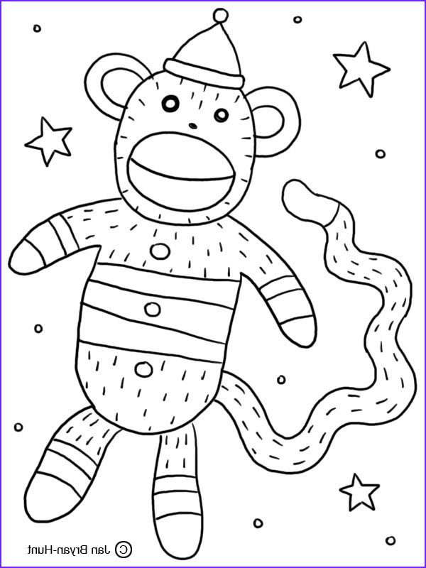 my sock monkey coloring book