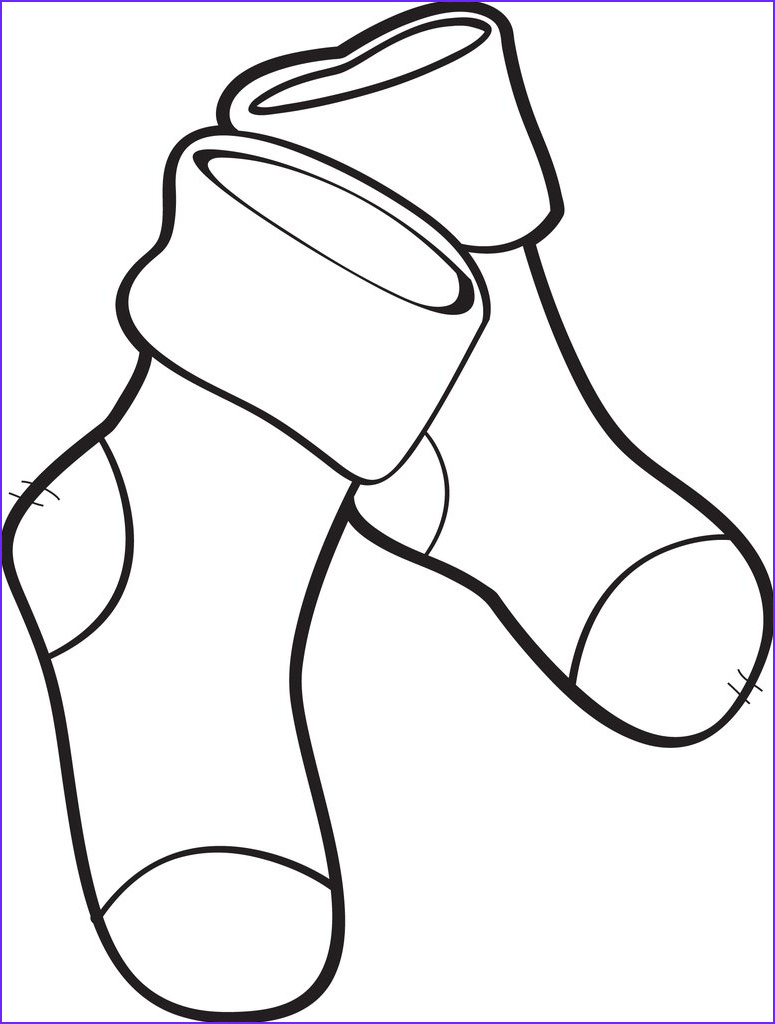 pair of striped socks coloring page a4137