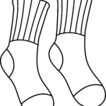Socks Coloring Page Cool Stock Socks Coloring Page Colorable Socks Outline