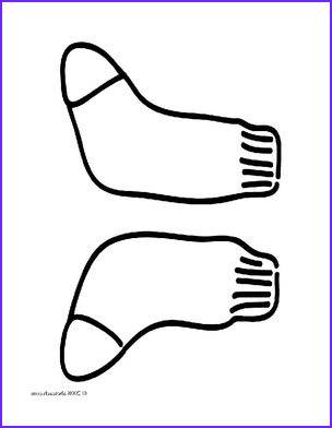 clip art basic words socks coloring page i abcteach